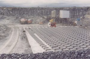Introduction of a ready mix concrete manufacturing plant and a concrete block making at McGraths Cong 1983